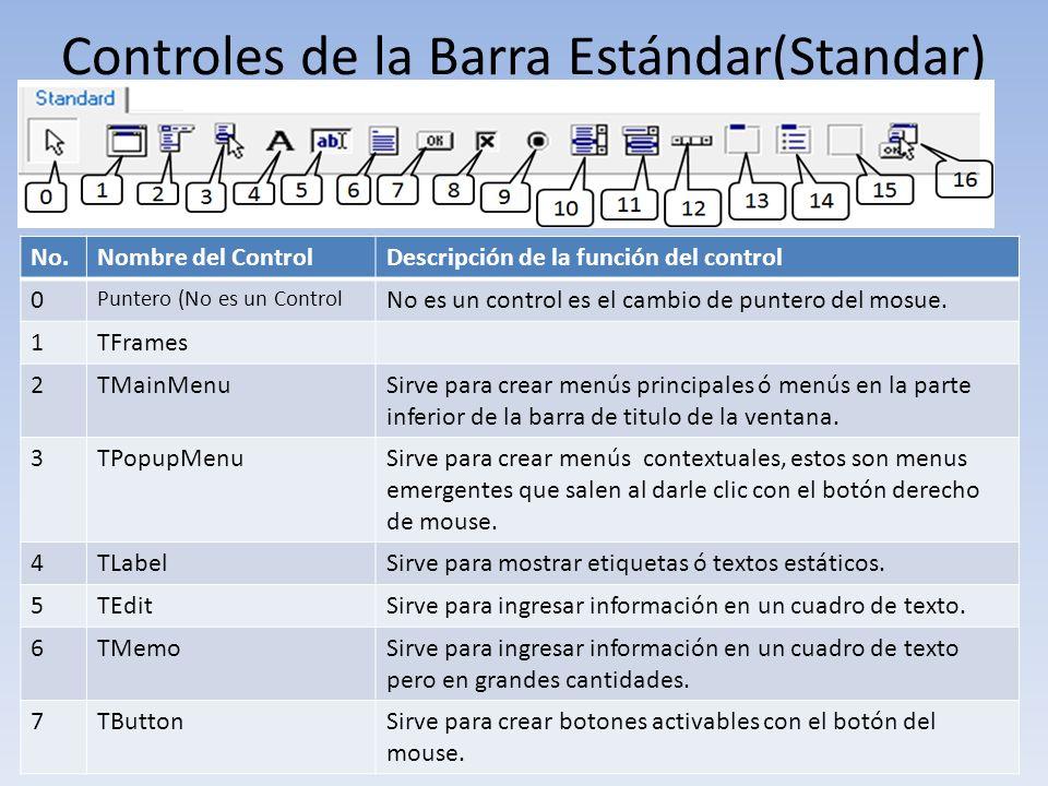 Controles de la Barra Estándar(Standar)