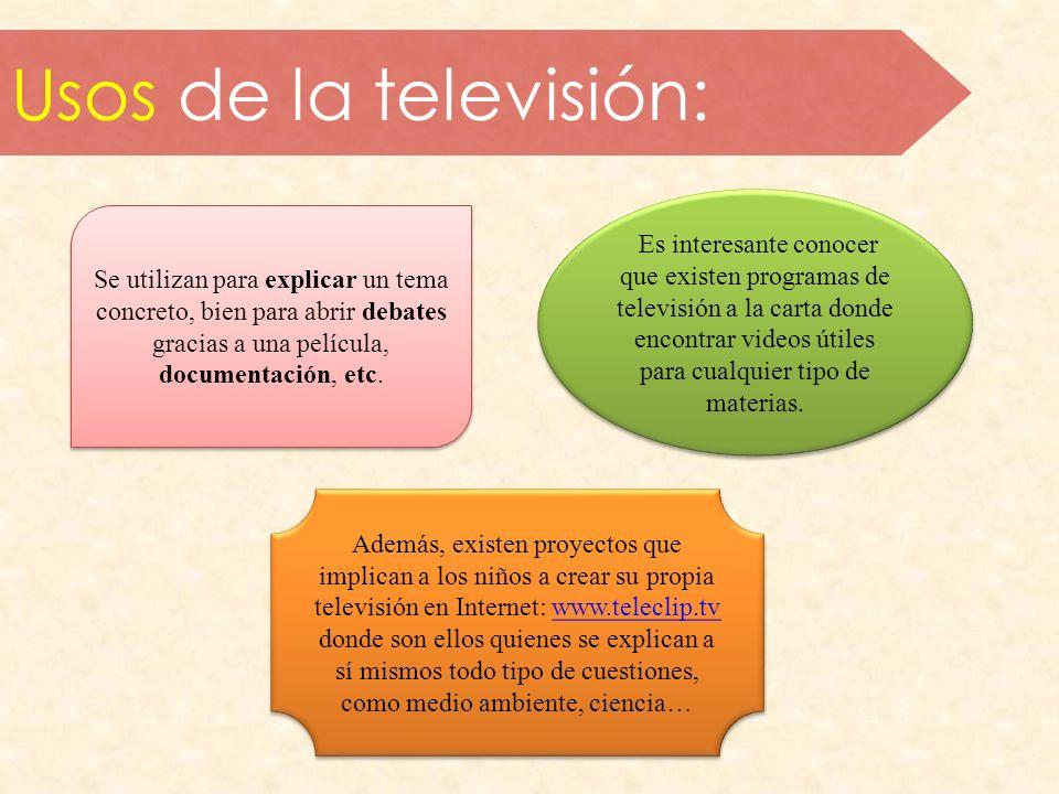 Usos de la televisión: