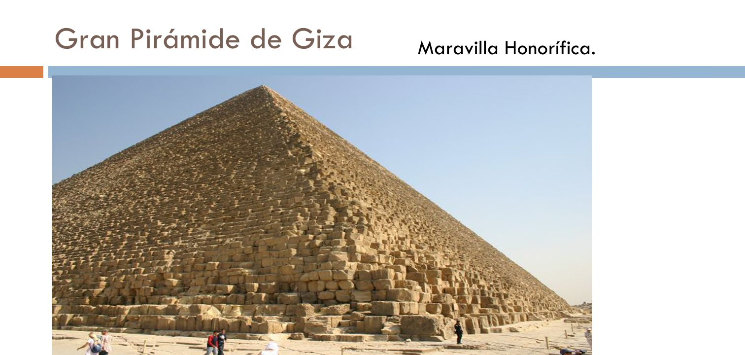 Gran Pirámide de Giza Maravilla Honorífica.