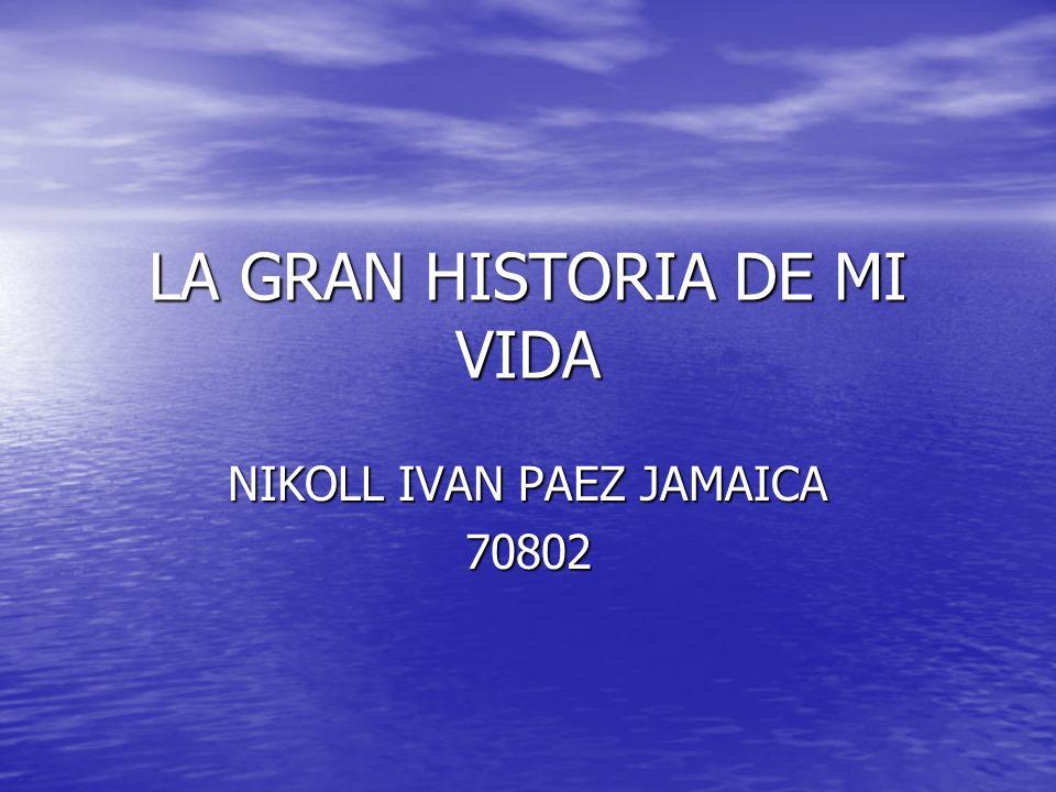 LA GRAN HISTORIA DE MI VIDA