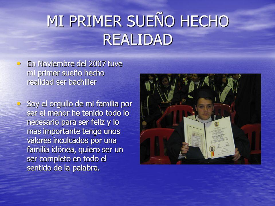 MI PRIMER SUEÑO HECHO REALIDAD