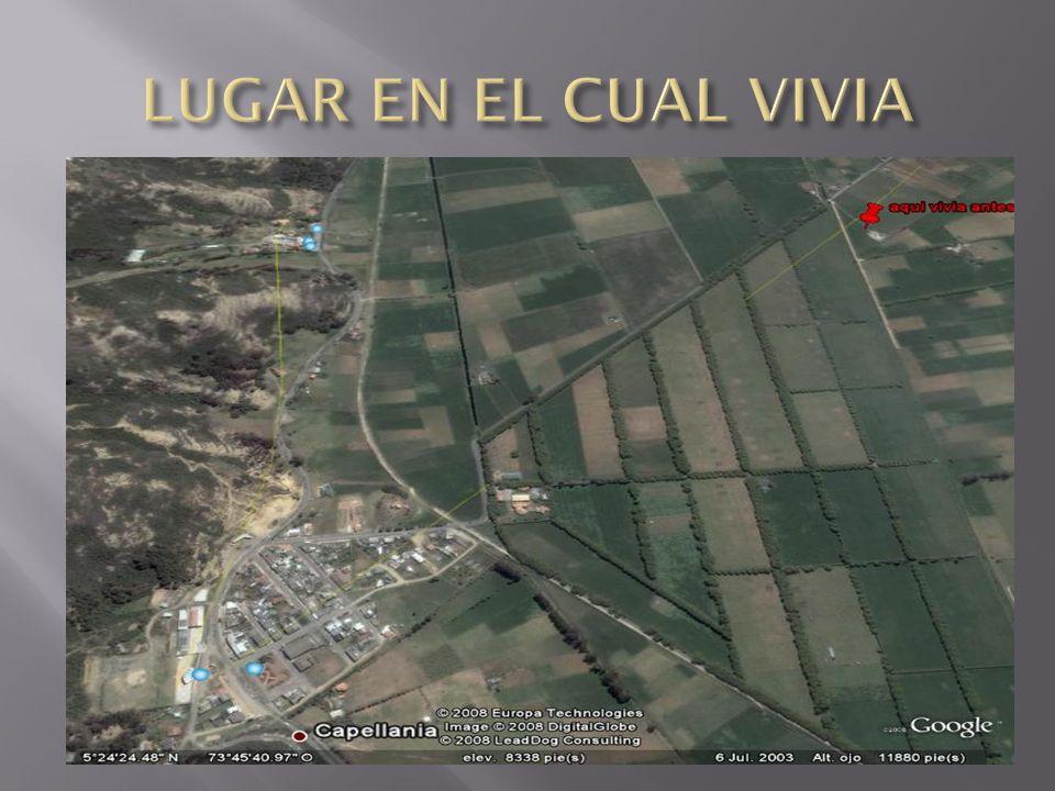 LUGAR EN EL CUAL VIVIA