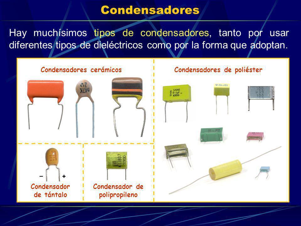 Condensador de polipropileno Condensador de tántalo