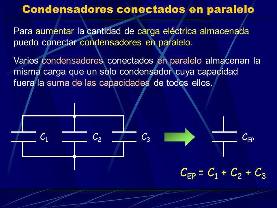 Condensadores conectados en paralelo