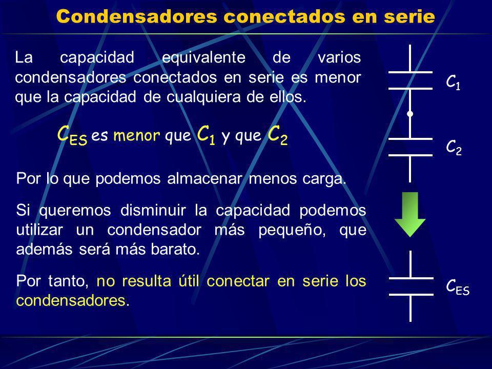 Condensadores conectados en serie