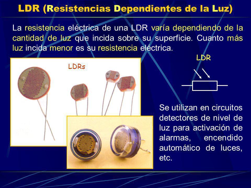 LDR (Resistencias Dependientes de la Luz)