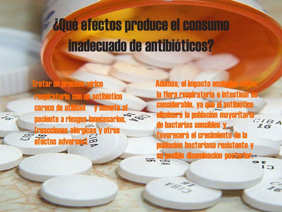 ¿Qué efectos produce el consumo inadecuado de antibióticos