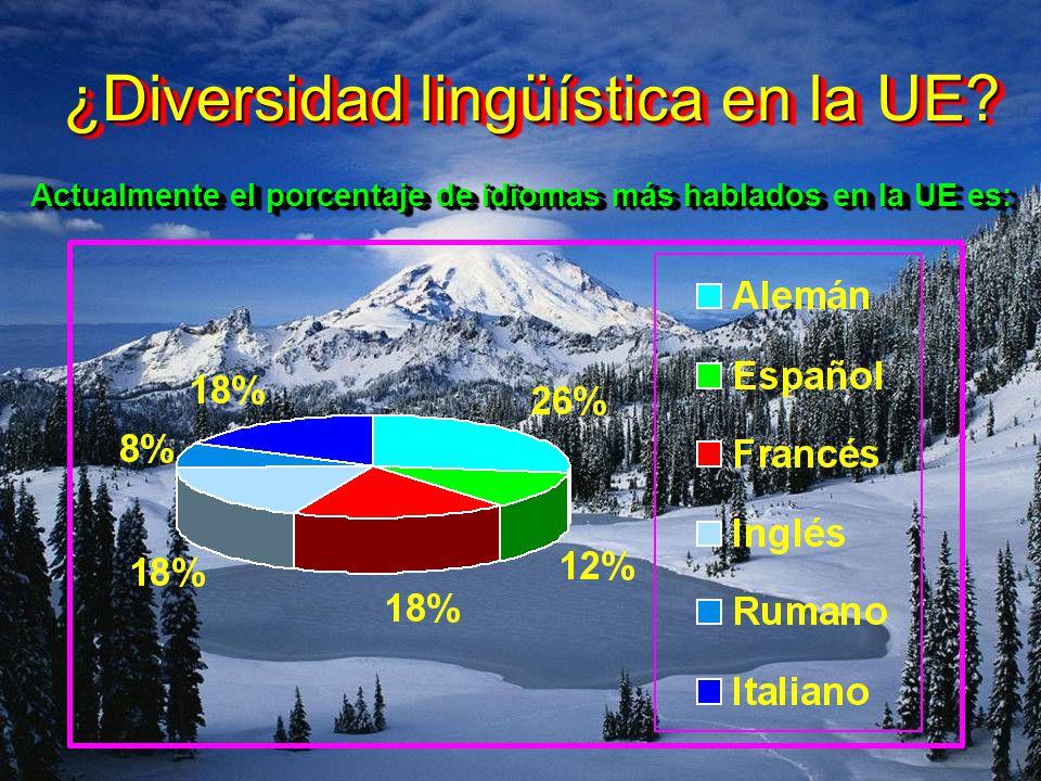 ¿Diversidad lingüística en la UE