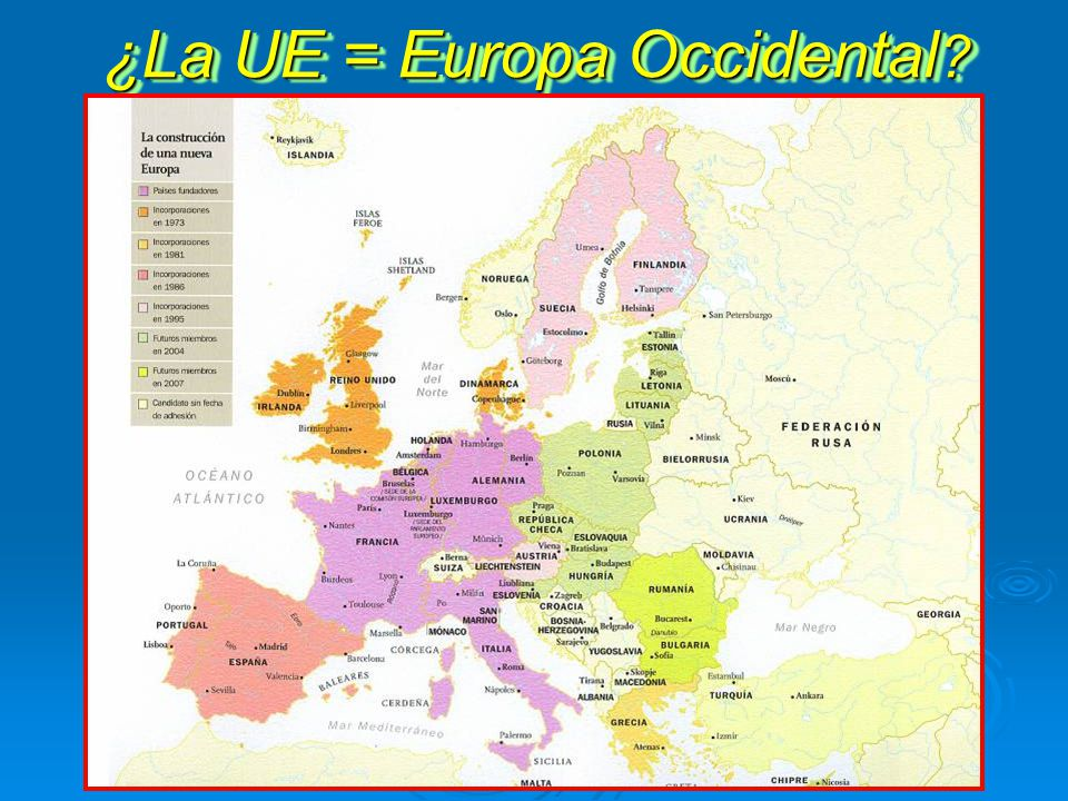 ¿La UE = Europa Occidental