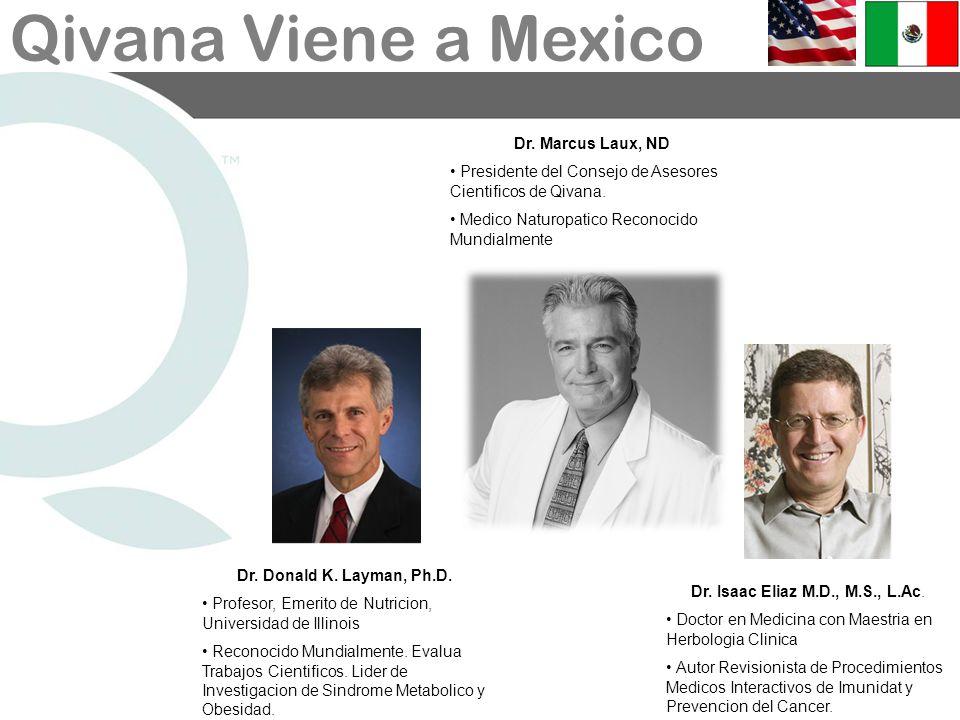 Dr. Marcus Laux, NDPresidente del Consejo de Asesores Cientificos de Qivana. Medico Naturopatico Reconocido Mundialmente.
