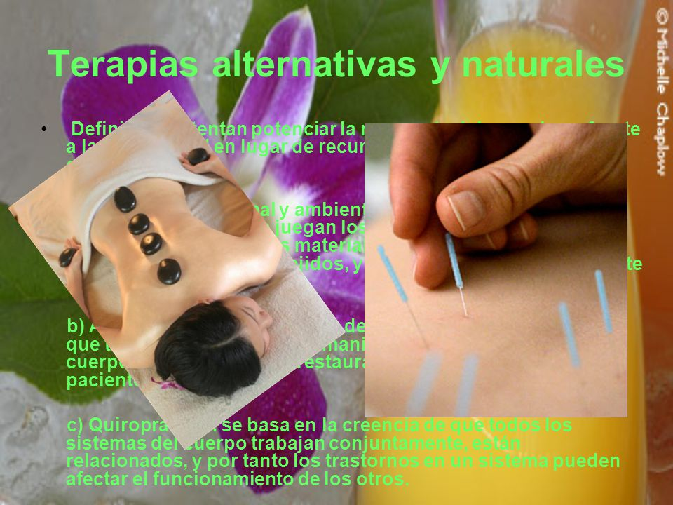 Terapias alternativas y naturales