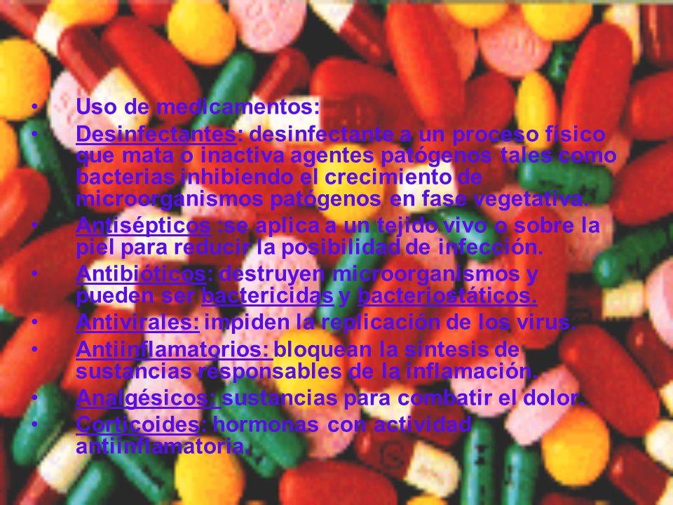 Uso de medicamentos: