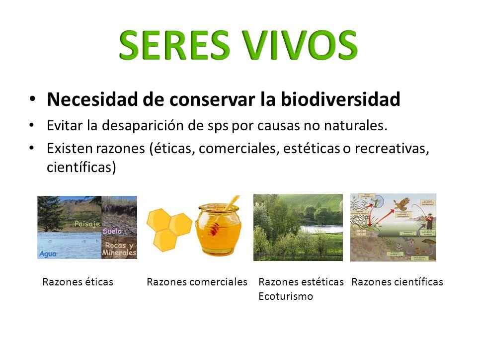 SERES VIVOS Necesidad de conservar la biodiversidad