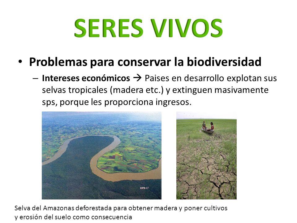 SERES VIVOS Problemas para conservar la biodiversidad