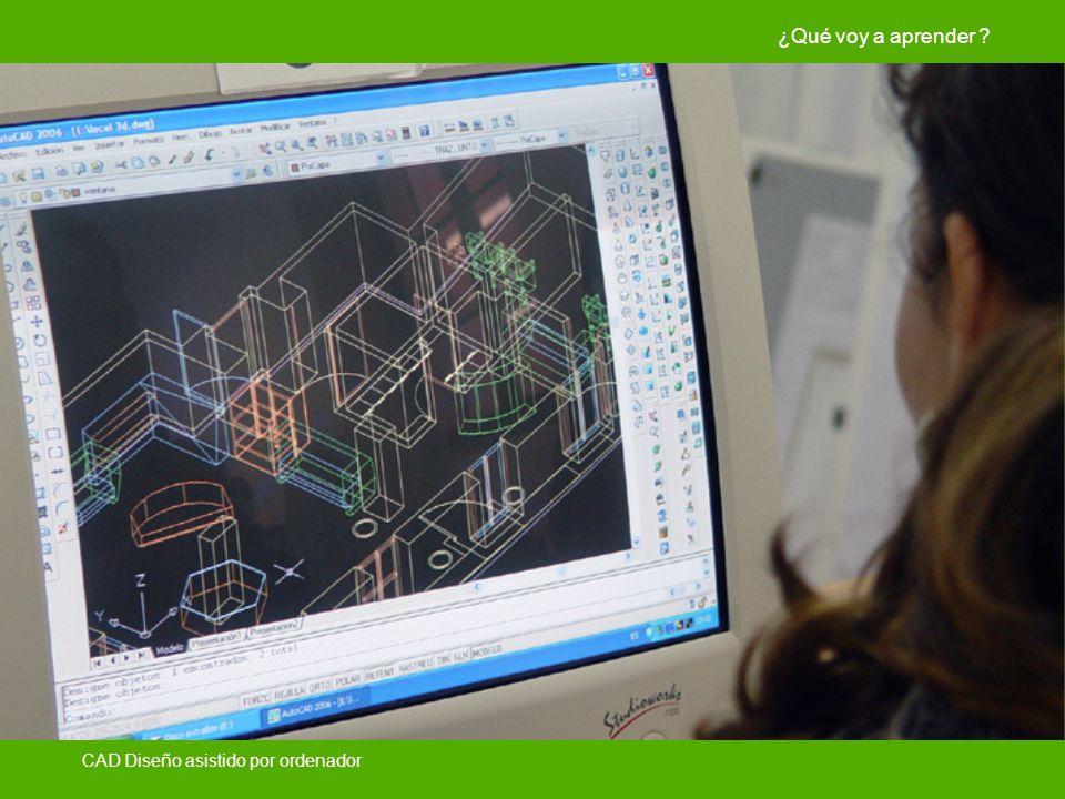 ¿Qué voy a aprender CAD Diseño asistido por ordenador