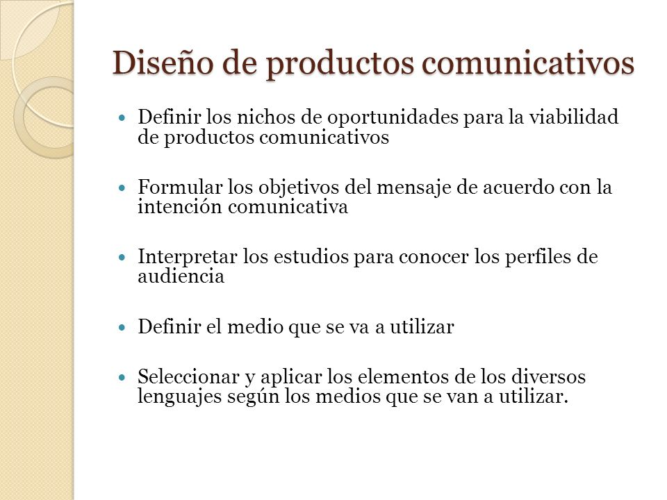 Diseño de productos comunicativos