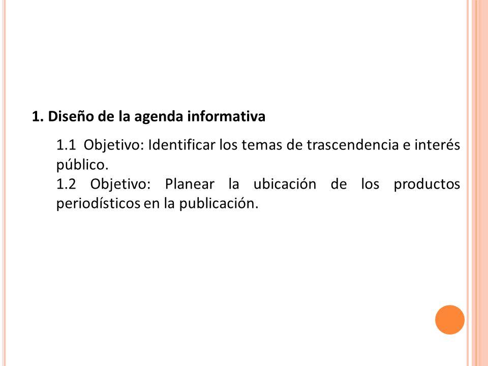 1. Diseño de la agenda informativa