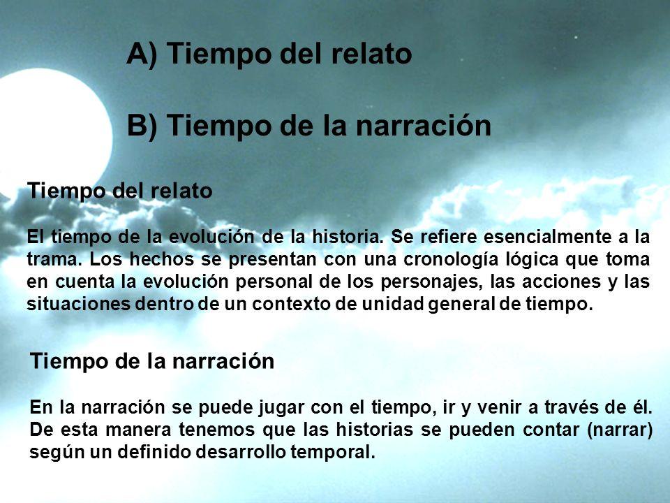 B) Tiempo de la narración
