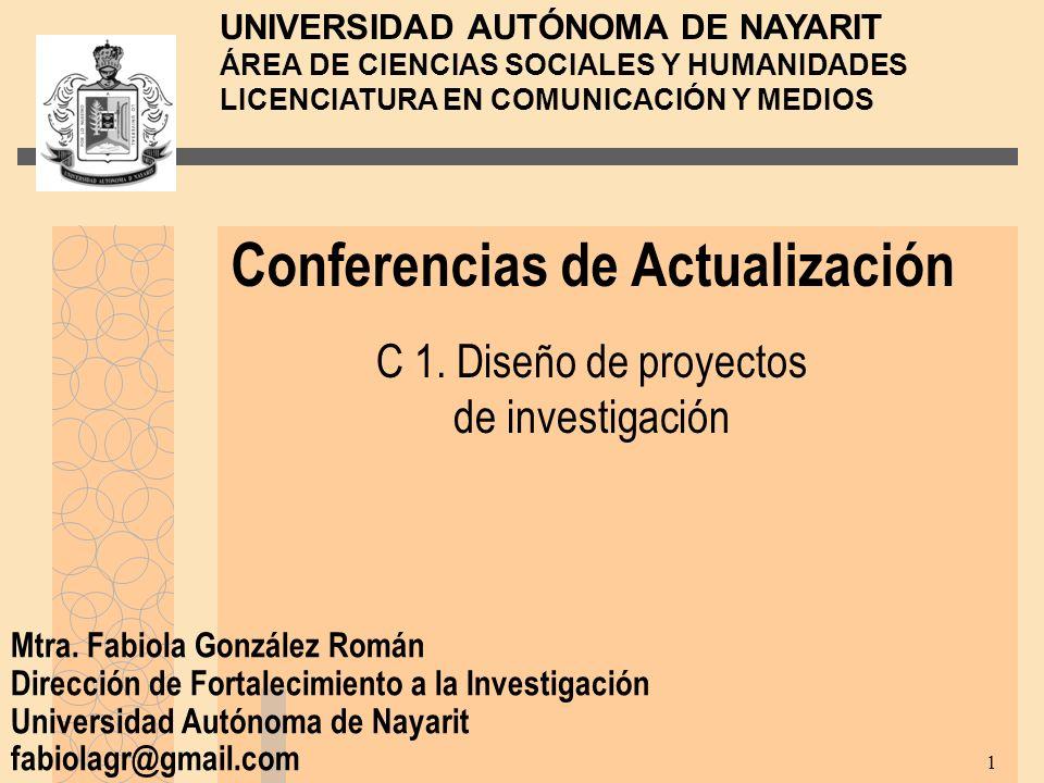 C 1. Diseño de proyectos de investigación
