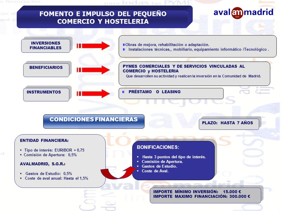 FOMENTO E IMPULSO DEL PEQUEÑO COMERCIO Y HOSTELERIA