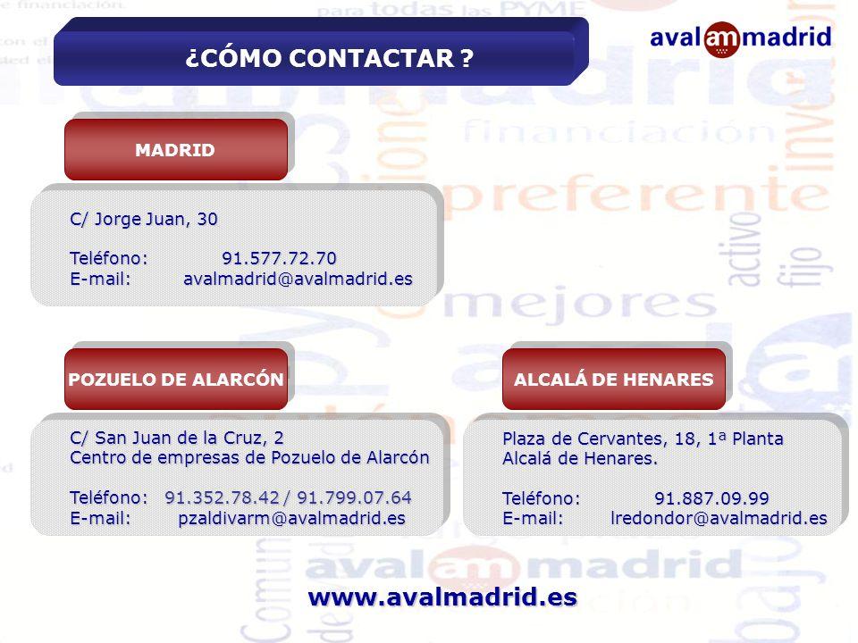 ¿CÓMO CONTACTAR www.avalmadrid.es