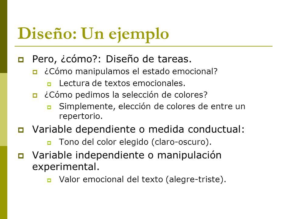 Diseño: Un ejemplo Pero, ¿cómo : Diseño de tareas.