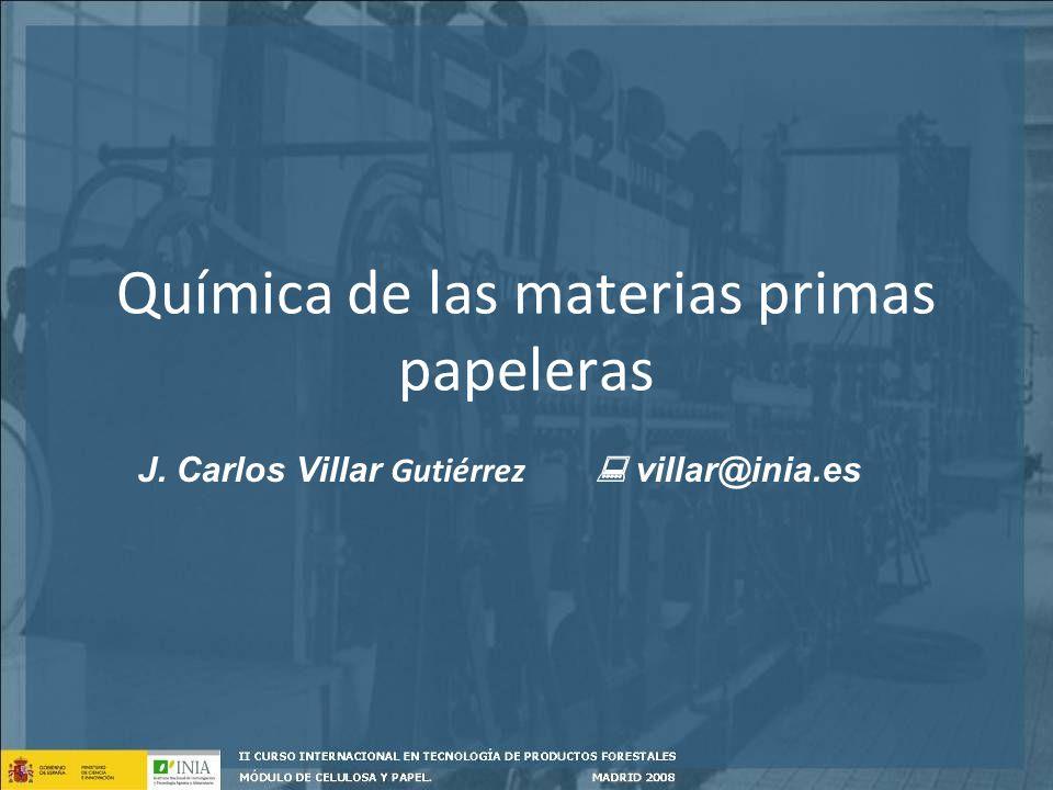 Química de las materias primas papeleras