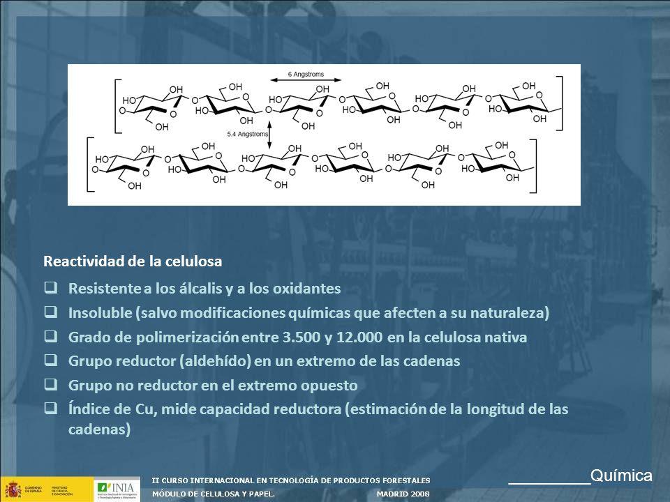 Reactividad de la celulosa