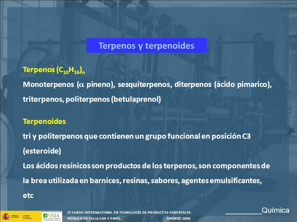 Terpenos y terpenoides