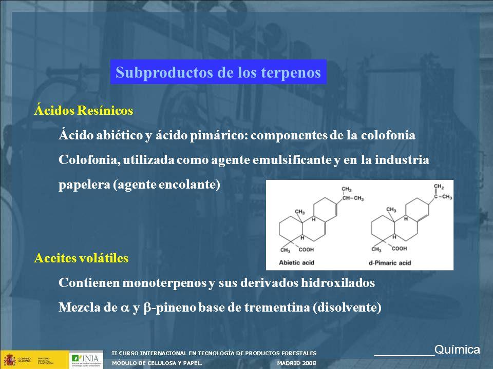 Subproductos de los terpenos