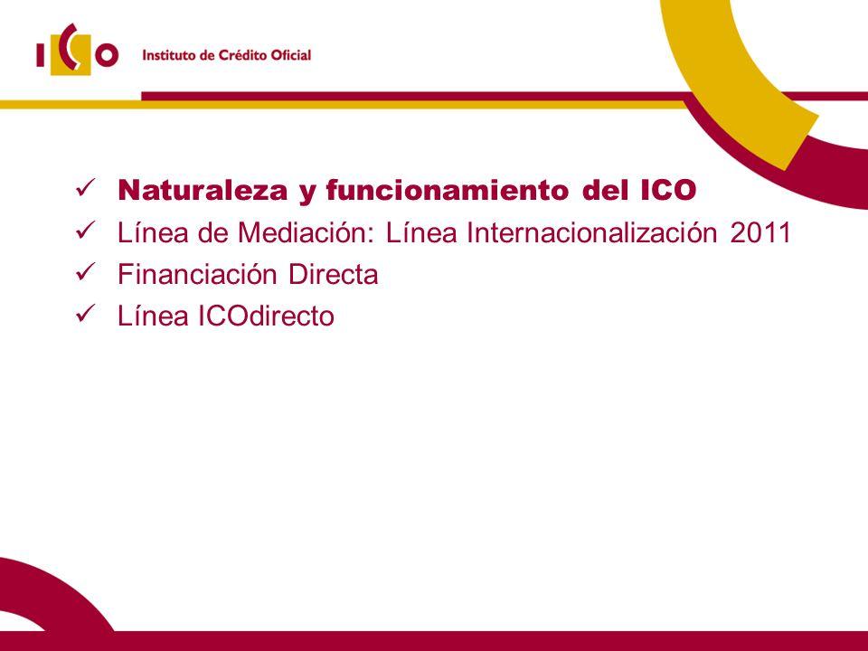 Naturaleza y funcionamiento del ICO