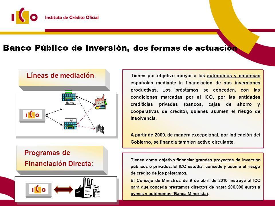 Banco Público de Inversión, dos formas de actuación