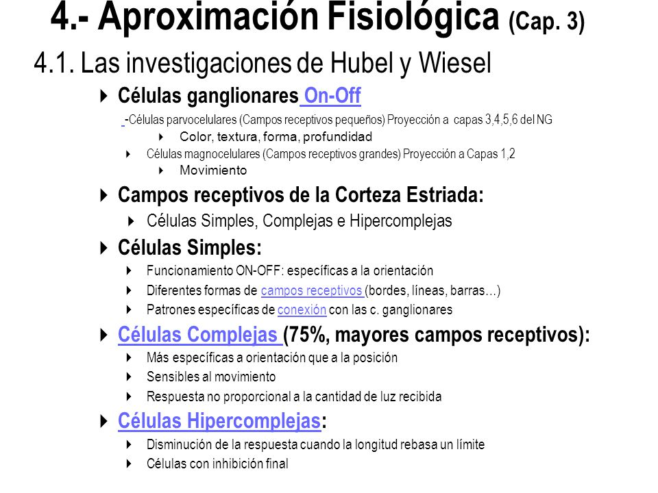 4.- Aproximación Fisiológica (Cap. 3)