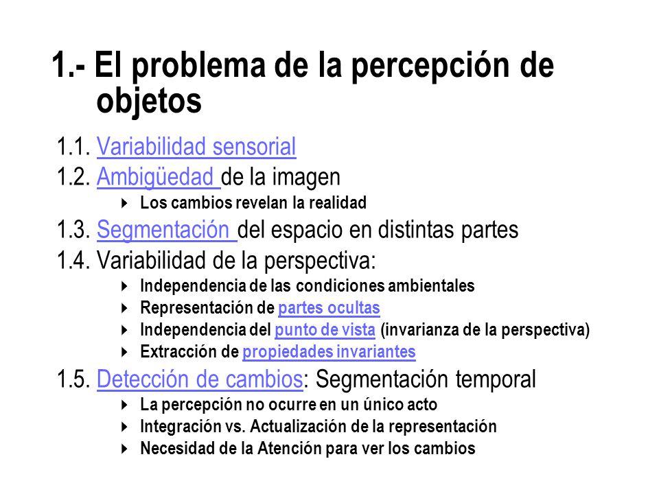 1.- El problema de la percepción de objetos