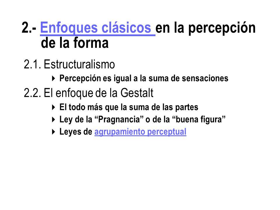 2.- Enfoques clásicos en la percepción de la forma
