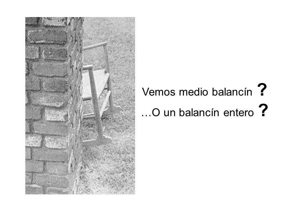Vemos medio balancín …O un balancín entero