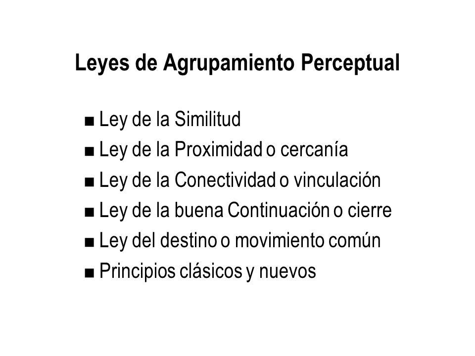 Leyes de Agrupamiento Perceptual
