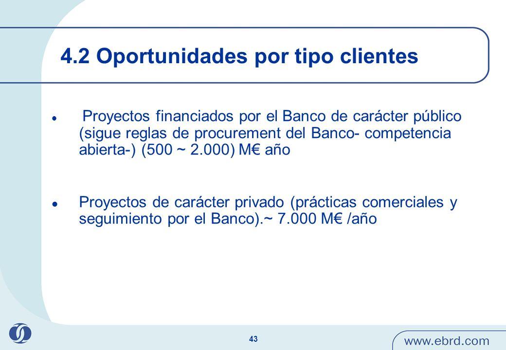 4.2 Oportunidades por tipo clientes