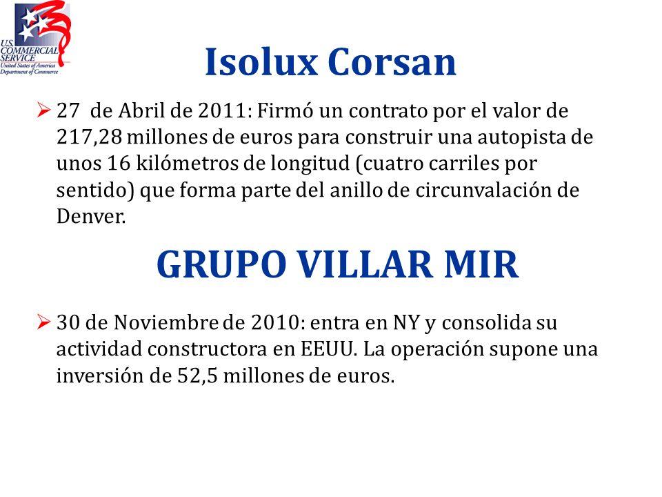 Isolux Corsan GRUPO VILLAR MIR