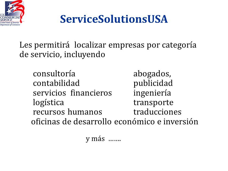 ServiceSolutionsUSALes permitirá localizar empresas por categoría de servicio, incluyendo. consultoría abogados,