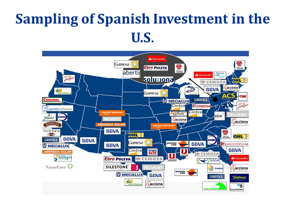 Sampling of Spanish Investment in the U.S.