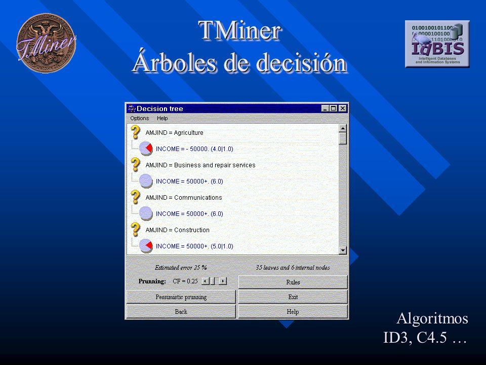 TMiner Listas de decisión