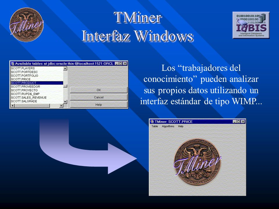 TMiner Interfaz Web Como applet... ... y como aplicación web