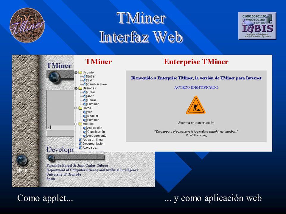 TMiner Sistema de ayuda en línea