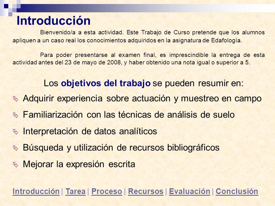 Los objetivos del trabajo se pueden resumir en: