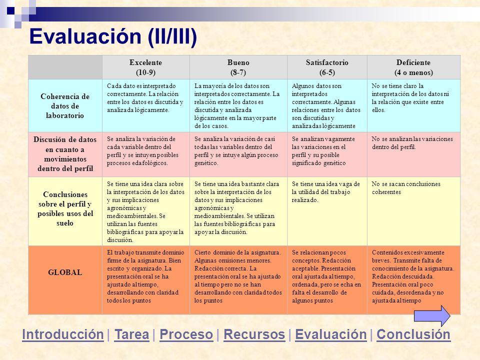 Conclusiones sobre el perfil y posibles usos del suelo