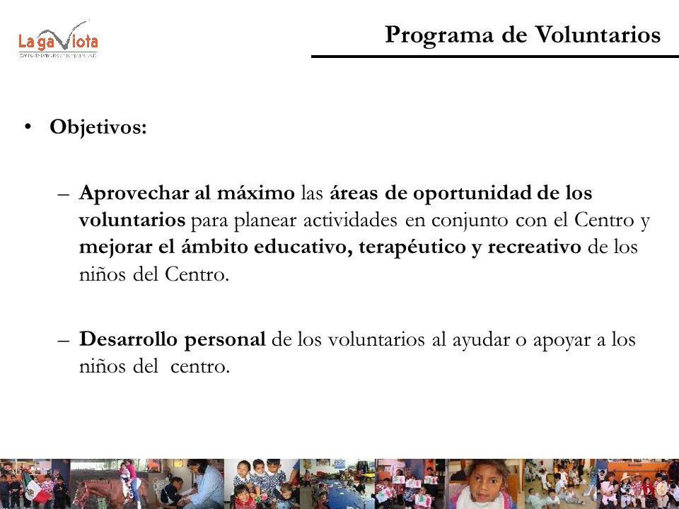 Programa de Voluntarios