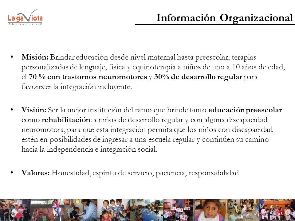 Información Organizacional