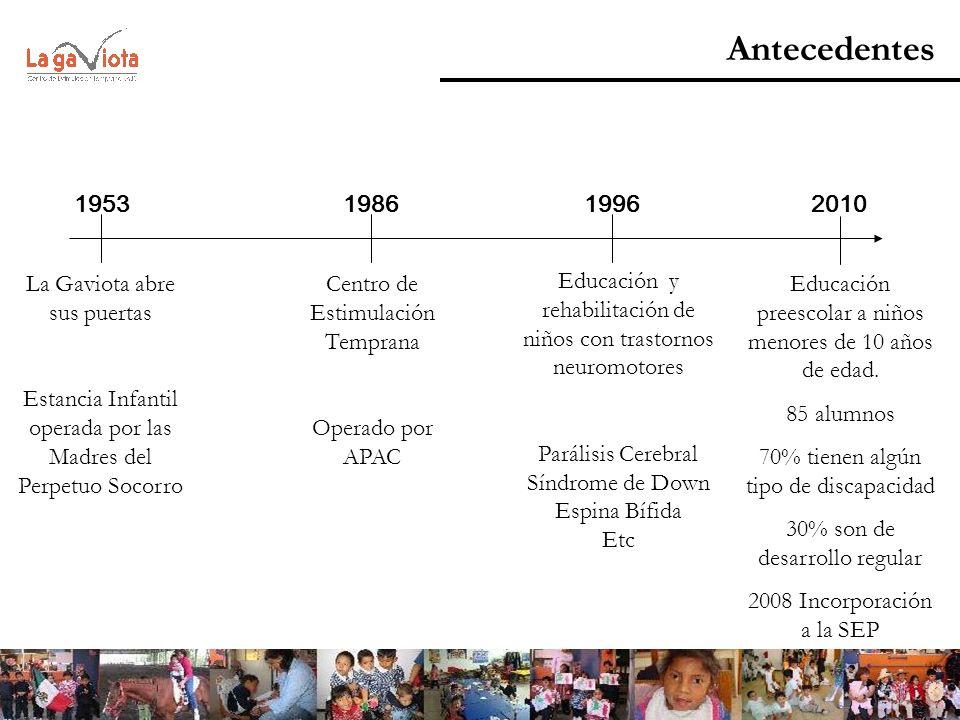 Antecedentes 1953 1986 1996 2010 La Gaviota abre sus puertas