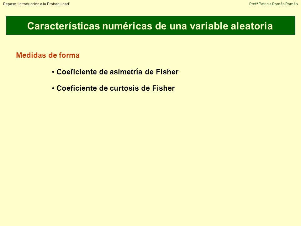 Características numéricas de una variable aleatoria